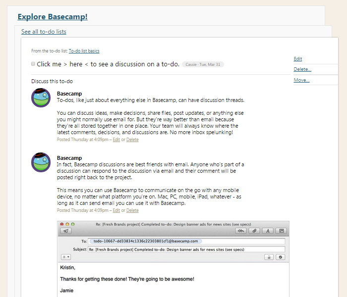 Basecamp new task screenshot