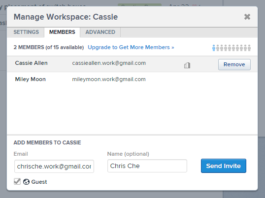 Asana manage people screenshot