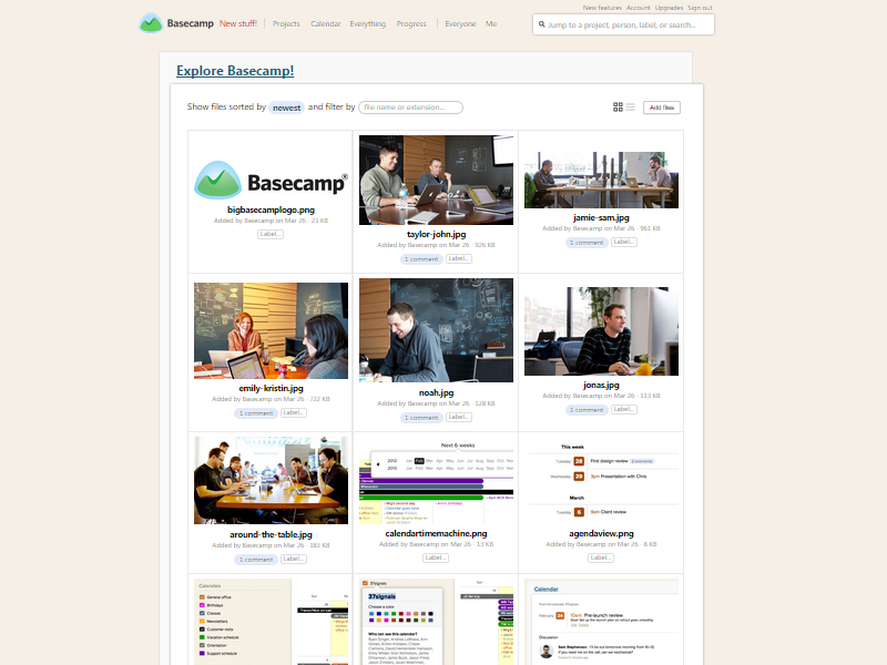 Basecamp file viewer screenshot