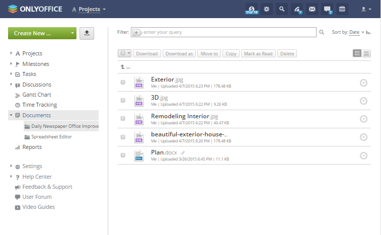Onlyoffice file viewer screenshot